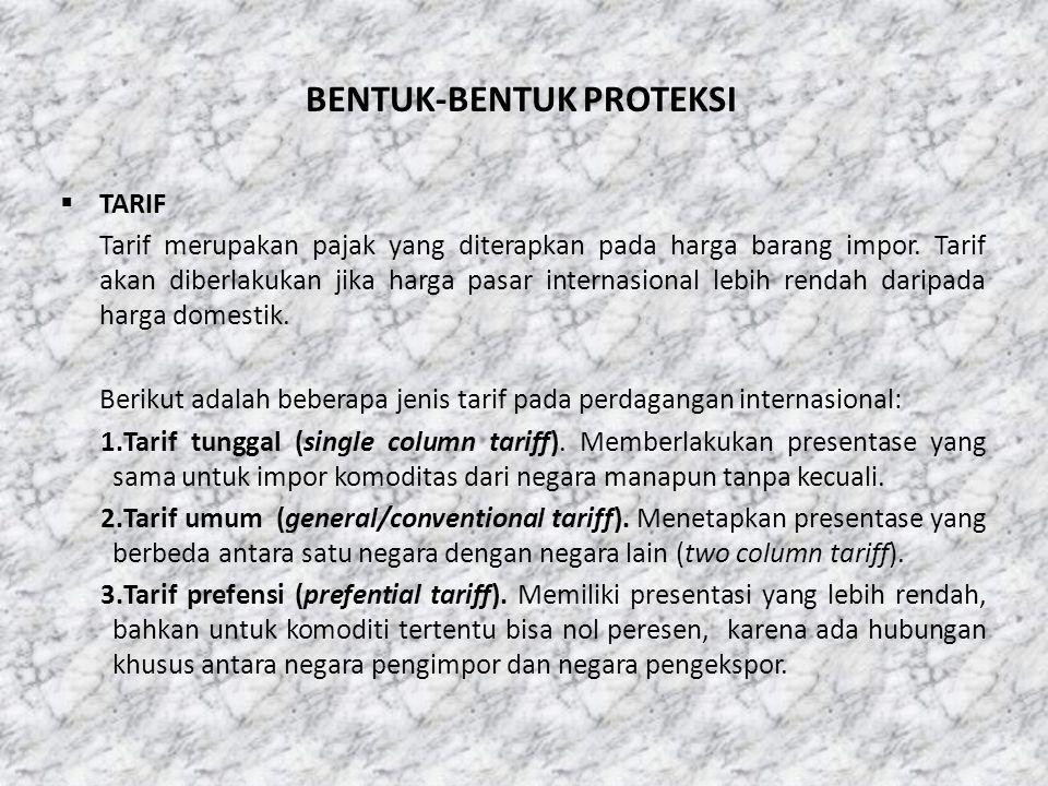 BENTUK-BENTUK PROTEKSI
