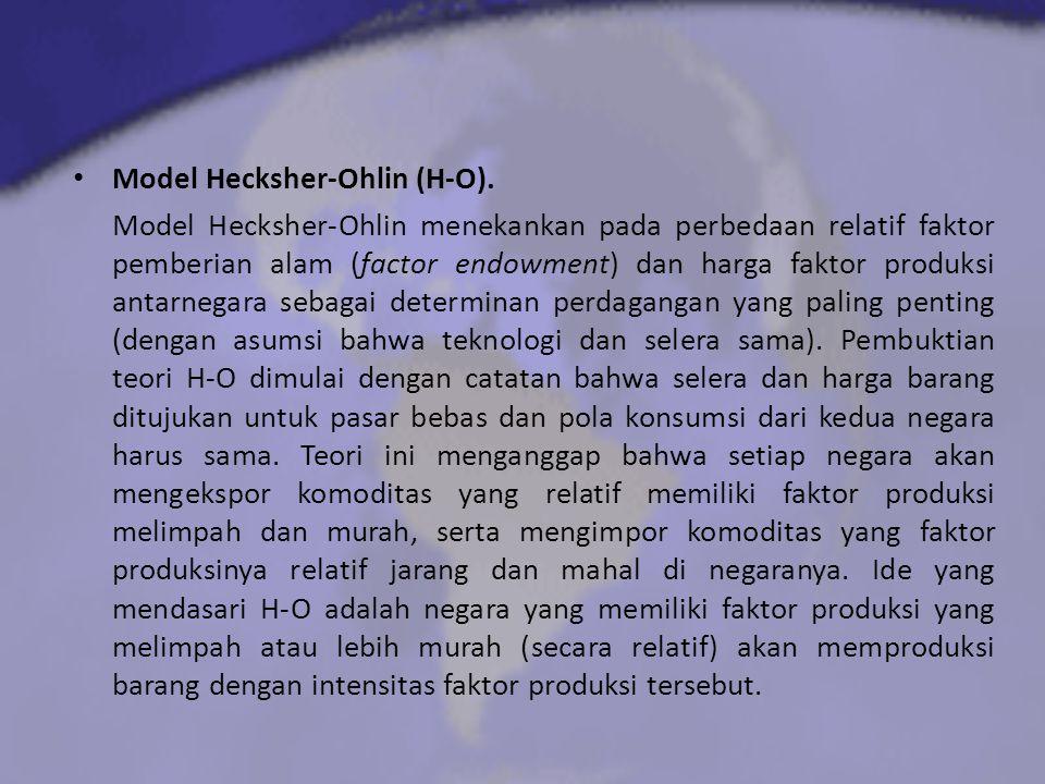 Model Hecksher-Ohlin (H-O).