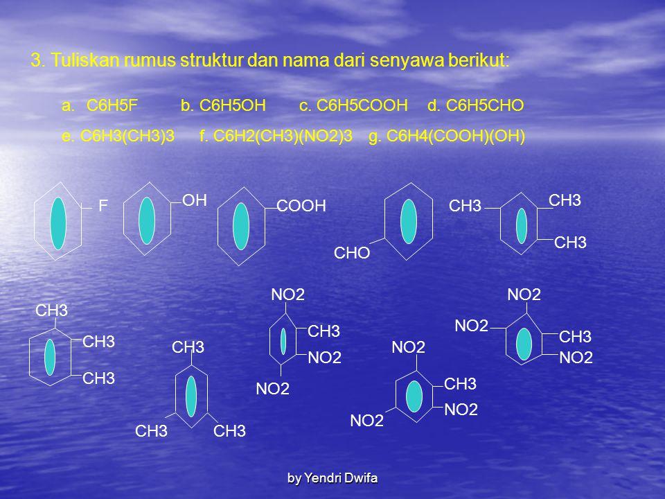 3. Tuliskan rumus struktur dan nama dari senyawa berikut: