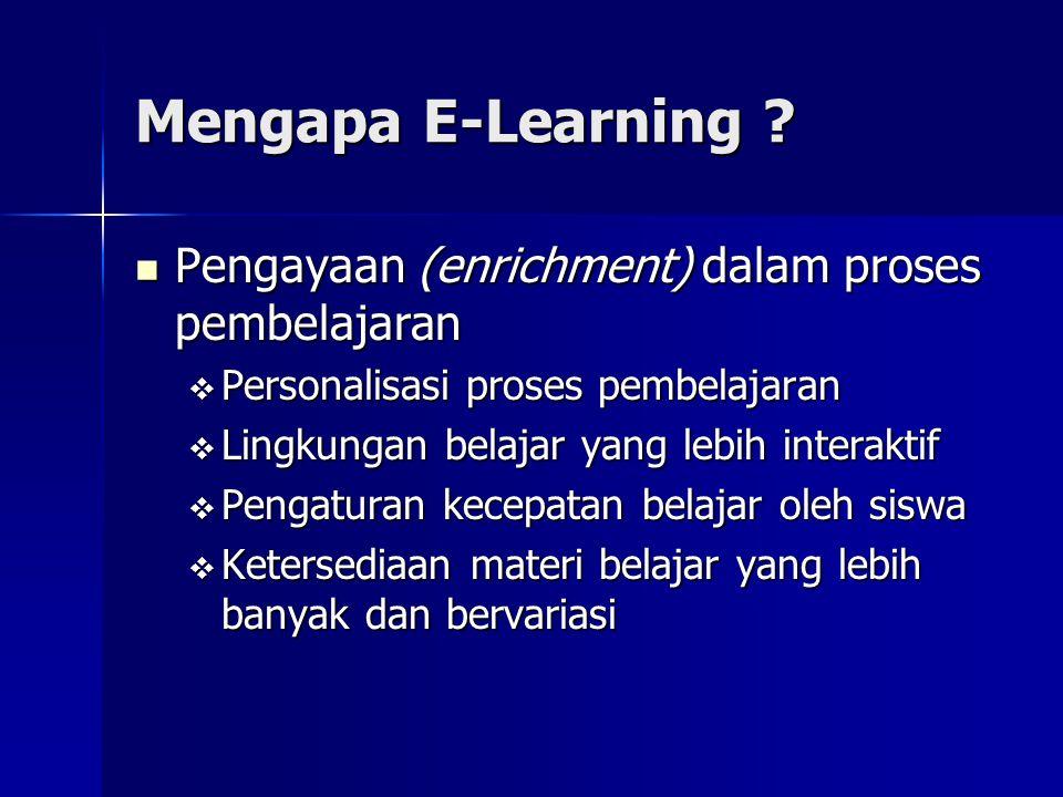 Mengapa E-Learning Pengayaan (enrichment) dalam proses pembelajaran