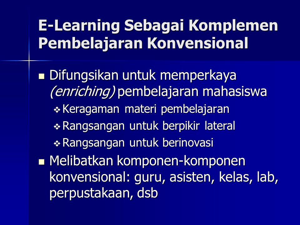 E-Learning Sebagai Komplemen Pembelajaran Konvensional