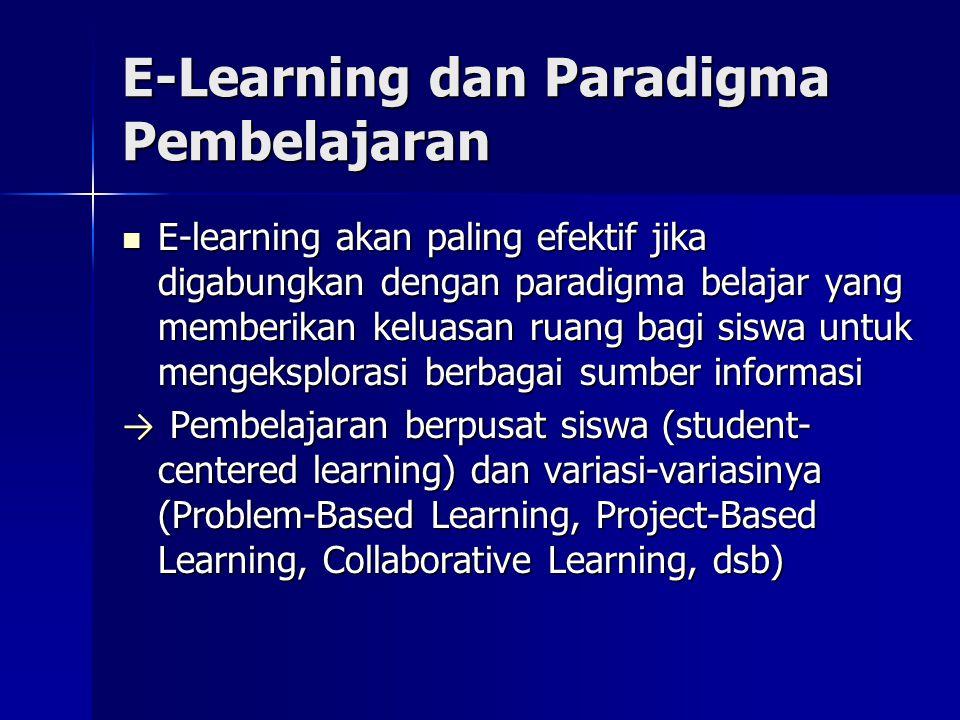 E-Learning dan Paradigma Pembelajaran