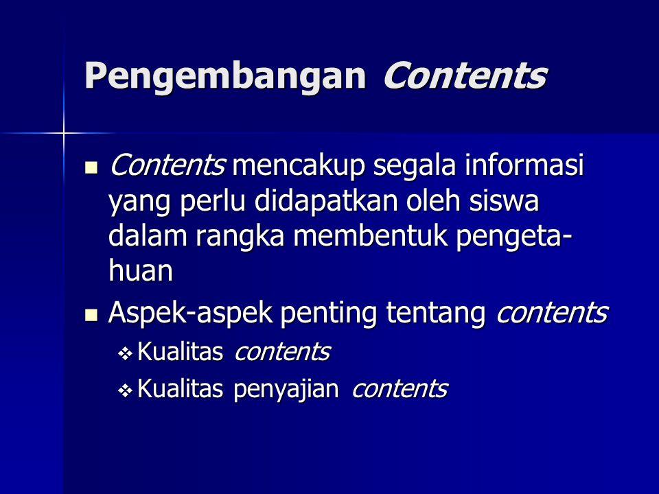 Pengembangan Contents