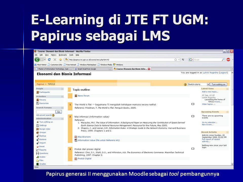 E-Learning di JTE FT UGM: Papirus sebagai LMS