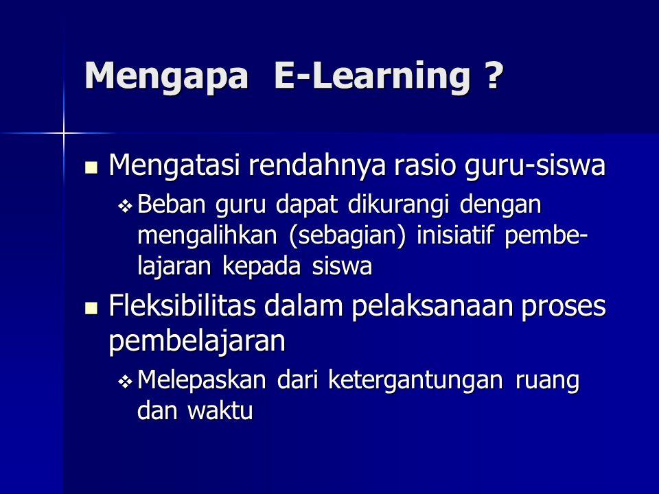 Mengapa E-Learning Mengatasi rendahnya rasio guru-siswa