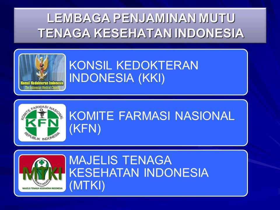 LEMBAGA PENJAMINAN MUTU TENAGA KESEHATAN INDONESIA