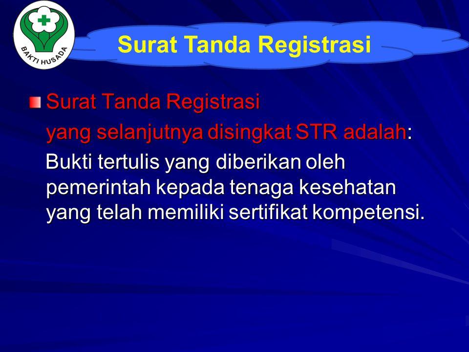 Surat Tanda Registrasi