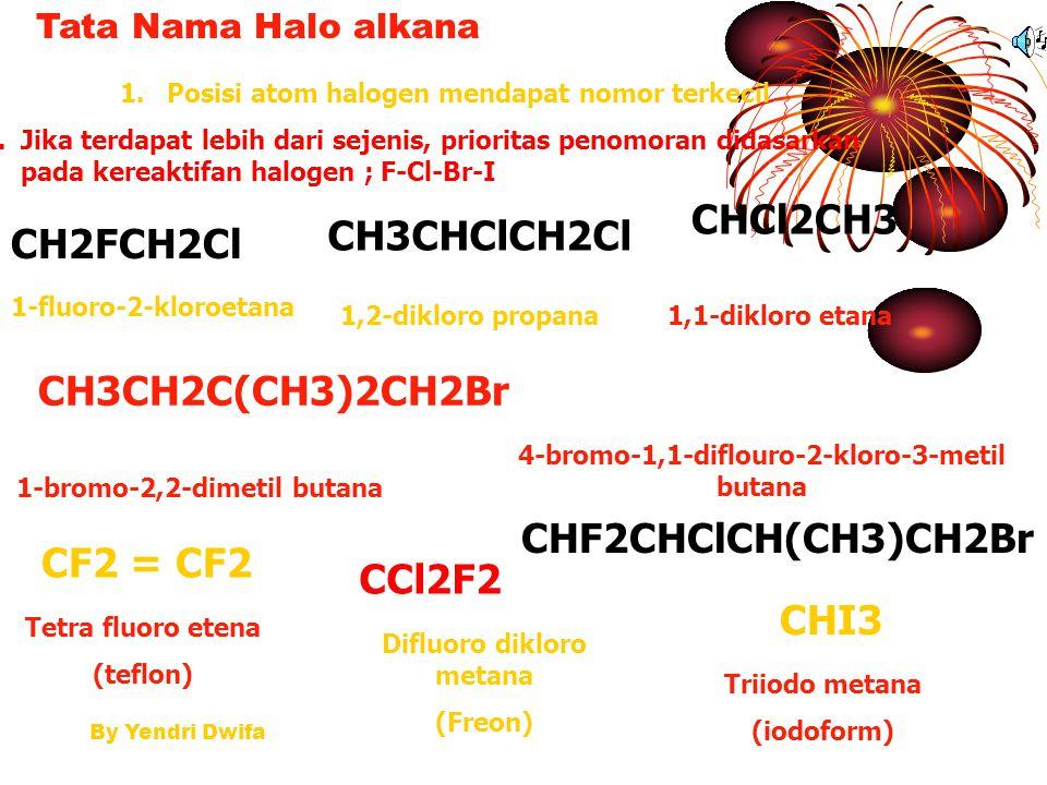 CHCl2CH3 CH3CHClCH2Cl CH2FCH2Cl CH3CH2C(CH3)2CH2Br