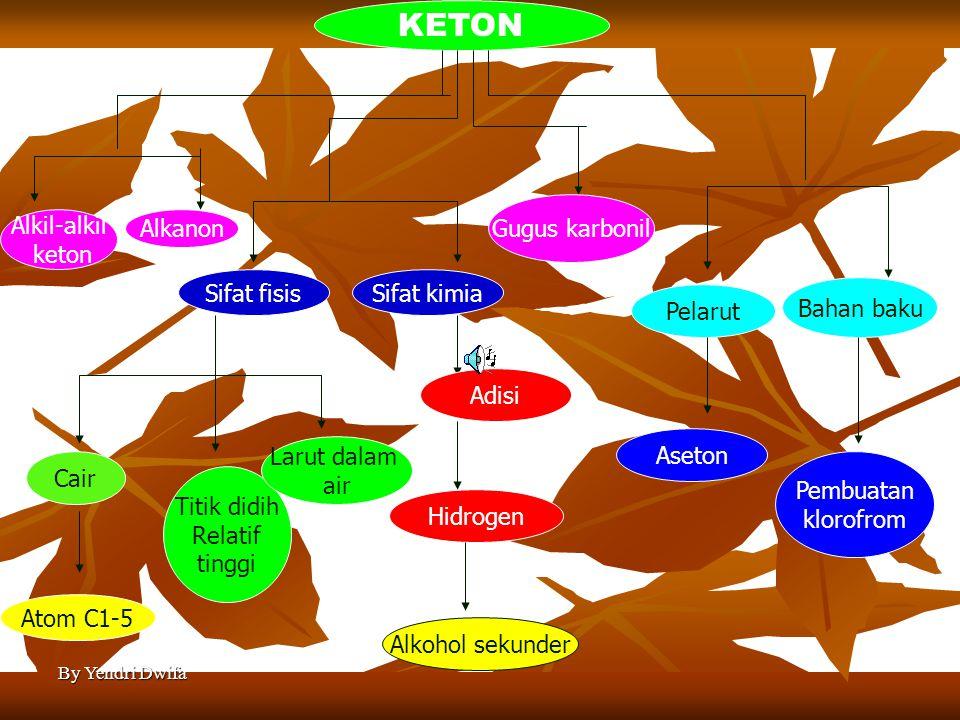 KETON Gugus karbonil Alkil-alkil keton Alkanon Sifat fisis Sifat kimia
