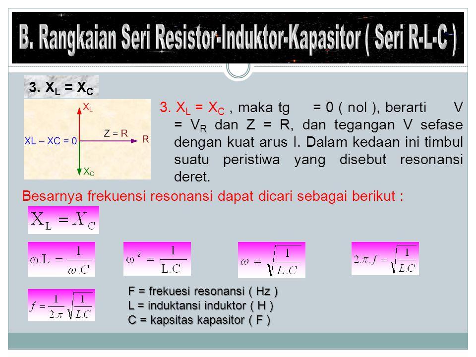 B. Rangkaian Seri Resistor-Induktor-Kapasitor ( Seri R-L-C )