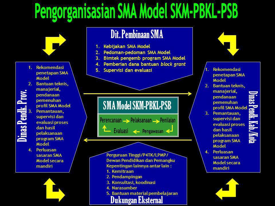 Pengorganisasian SMA Model SKM-PBKL-PSB SMA Model SKM-PBKL-PSB