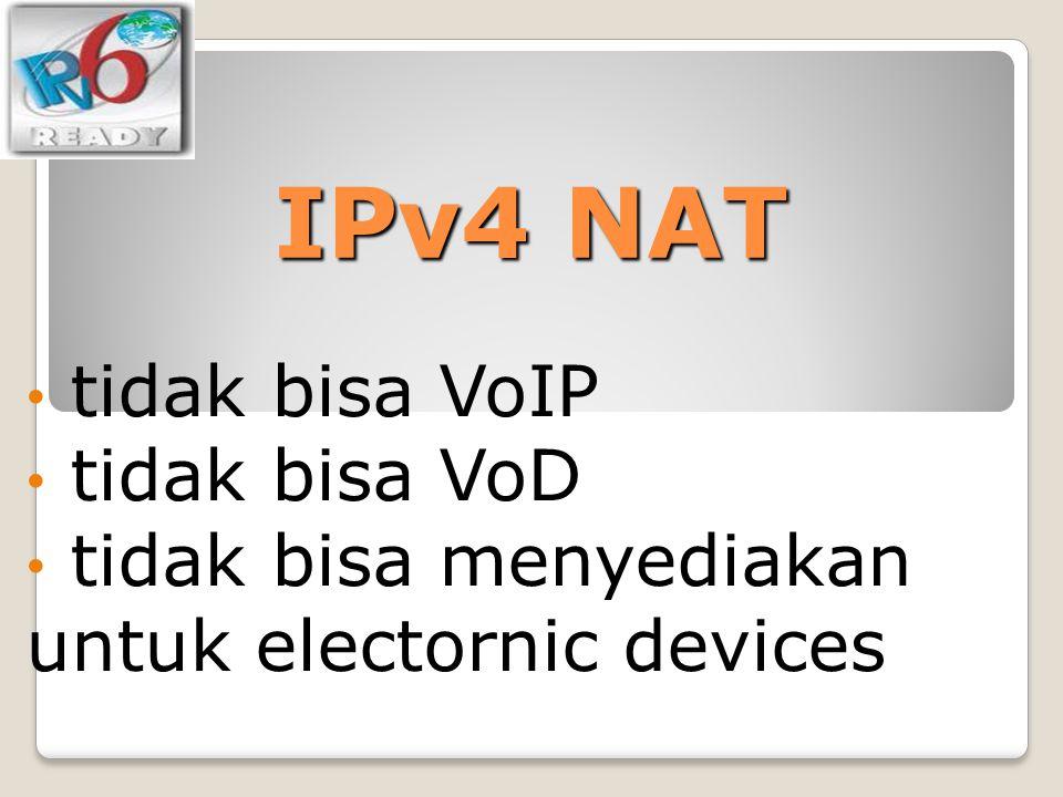 IPv4 NAT tidak bisa VoIP tidak bisa VoD