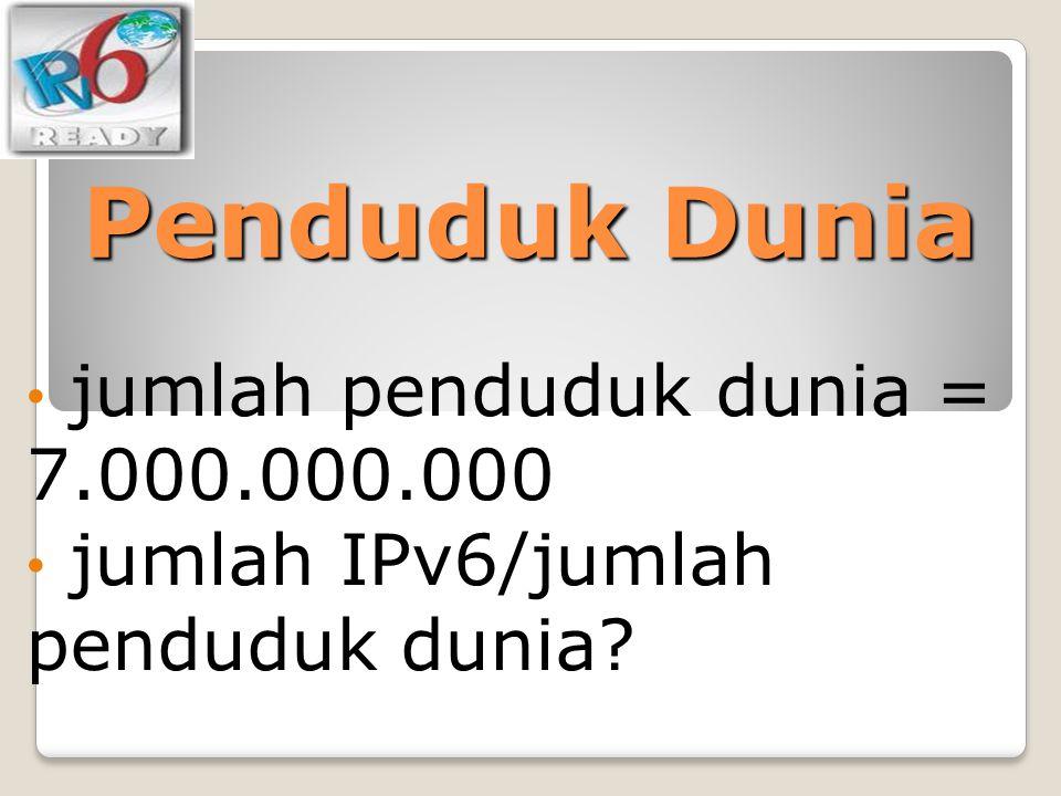 Penduduk Dunia jumlah penduduk dunia = 7.000.000.000