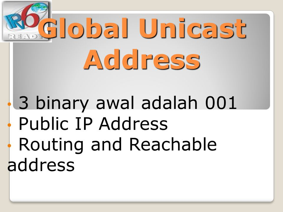 Global Unicast Address