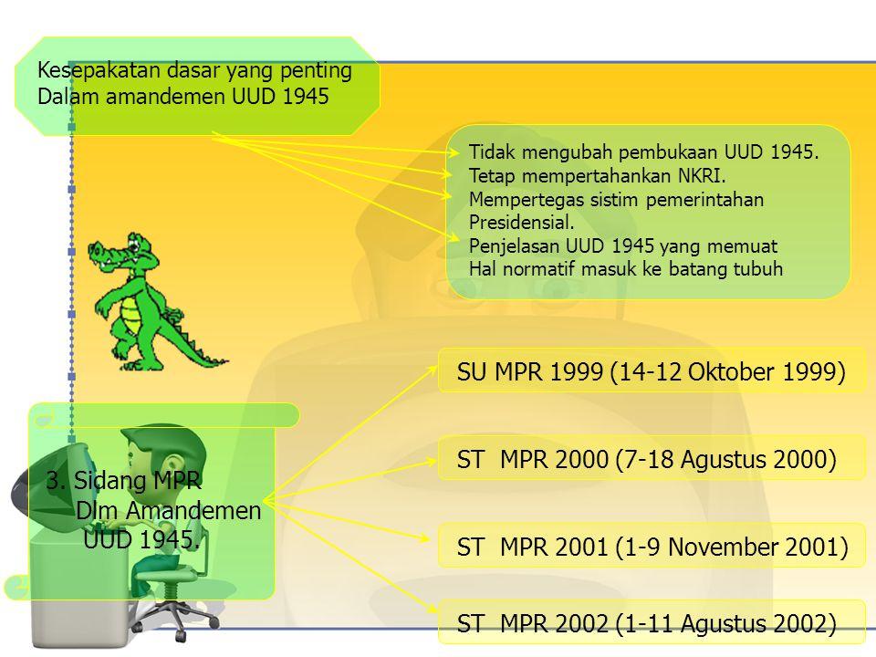 SU MPR 1999 (14-12 Oktober 1999) 3. Sidang MPR
