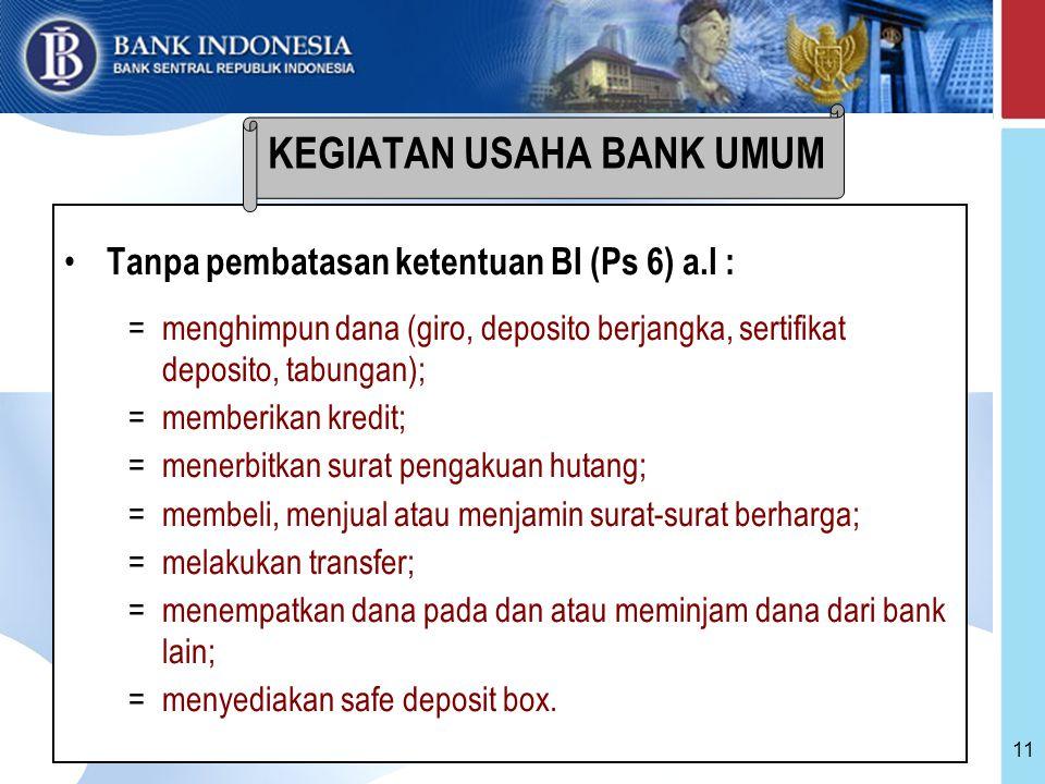 KEGIATAN USAHA BANK UMUM
