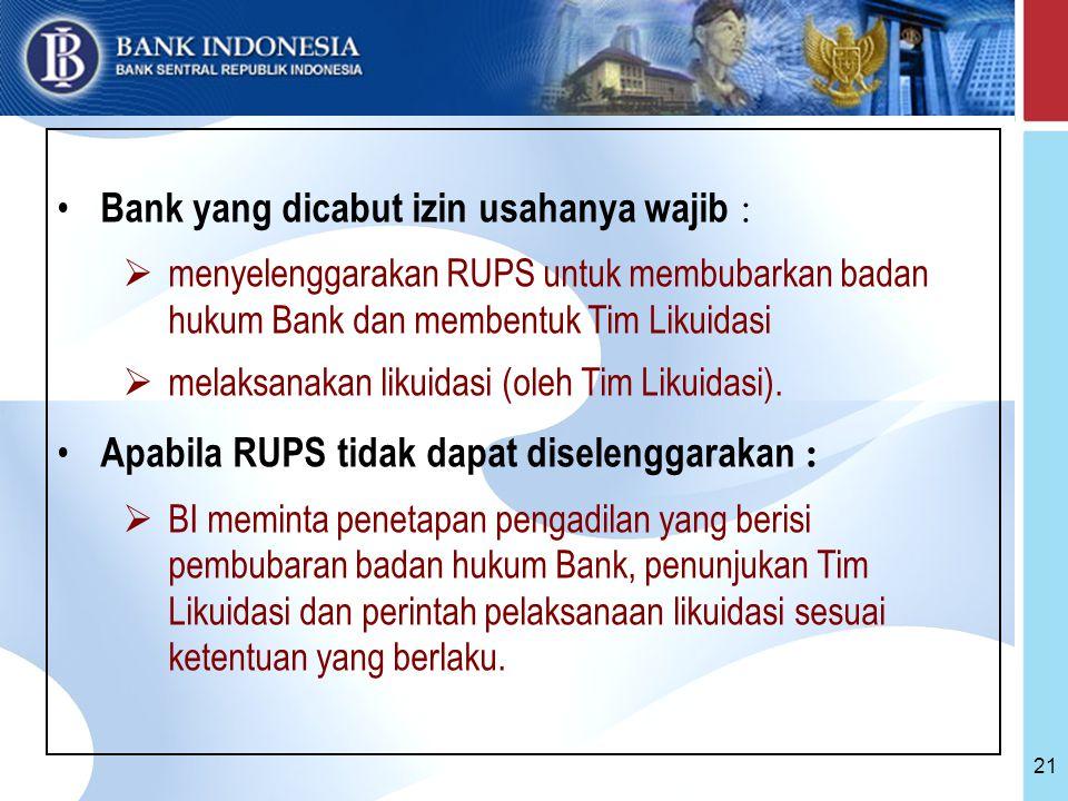 Bank yang dicabut izin usahanya wajib :