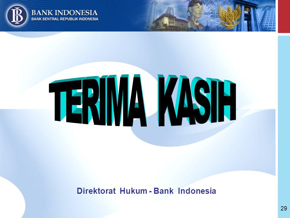 Direktorat Hukum - Bank Indonesia