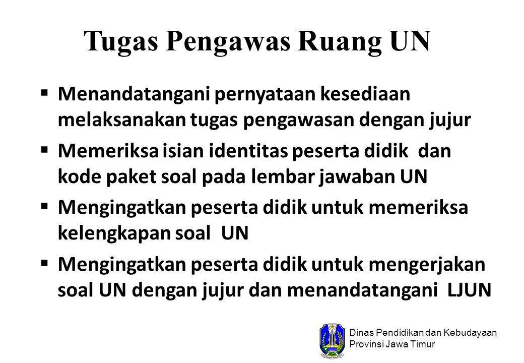 Pegaturan Tempat Duduk UN Tahun Pelajaran 2010/2011
