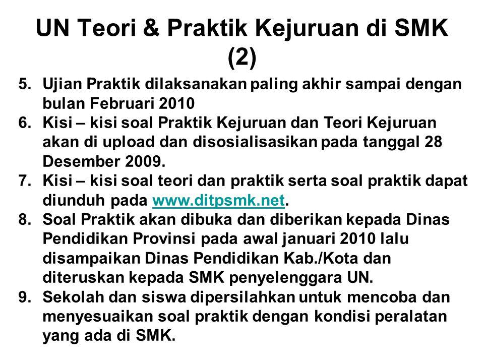 UN Teori & Praktik Kejuruan di SMK (2)