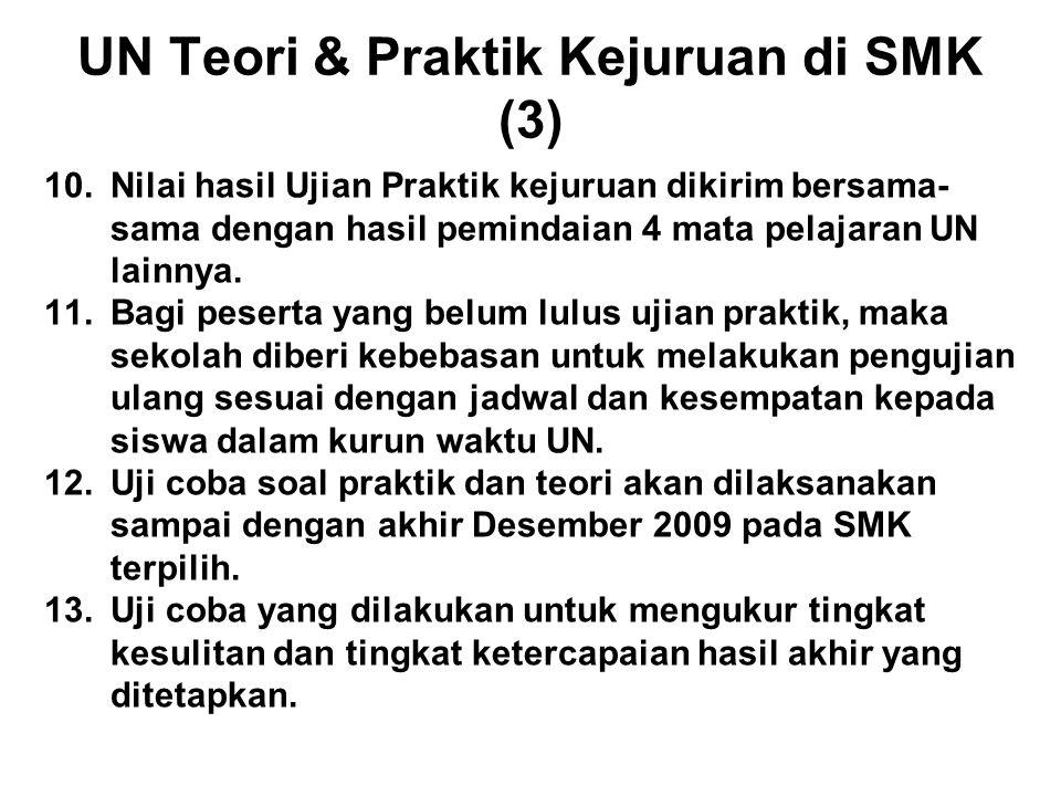 UN Teori & Praktik Kejuruan di SMK (3)