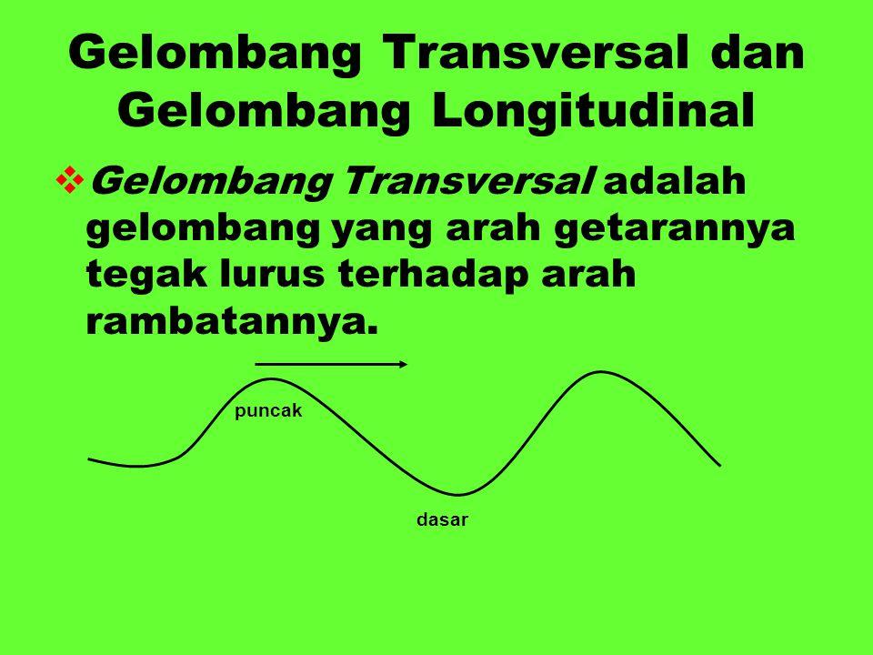 Gelombang Transversal dan Gelombang Longitudinal