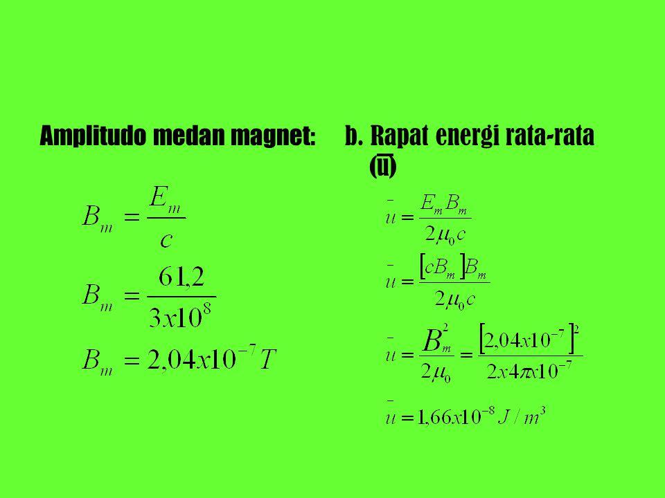 Amplitudo medan magnet: