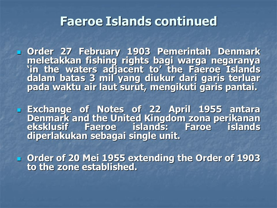 Faeroe Islands continued