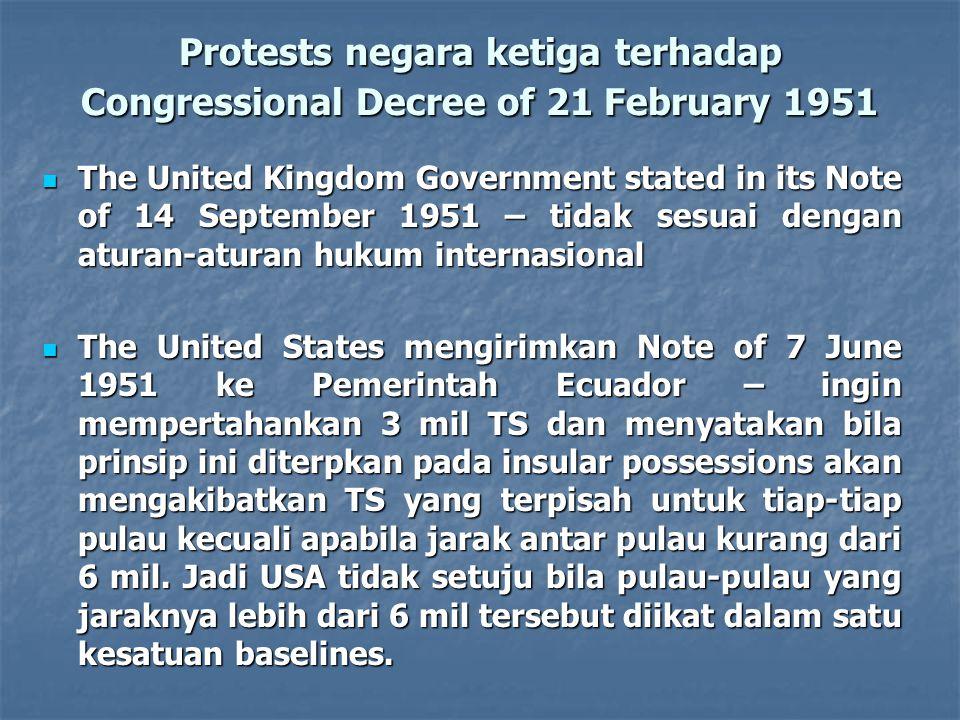 Protests negara ketiga terhadap Congressional Decree of 21 February 1951