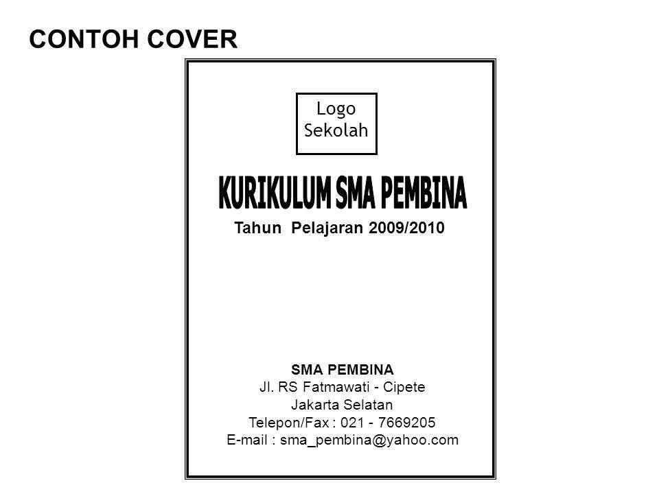 CONTOH COVER Logo Sekolah Tahun Pelajaran 2009/2010 SMA PEMBINA