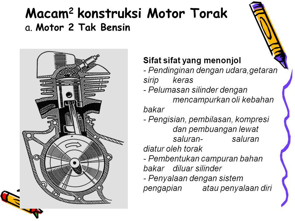 Macam2 konstruksi Motor Torak a. Motor 2 Tak Bensin