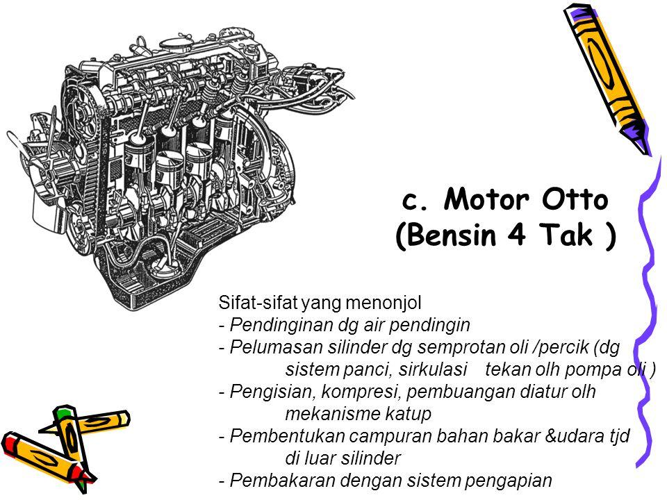 c. Motor Otto (Bensin 4 Tak )