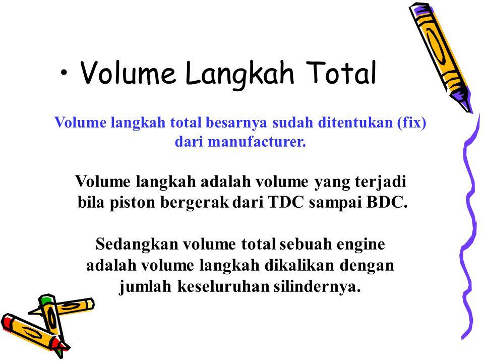 Volume Langkah Total Volume langkah adalah volume yang terjadi
