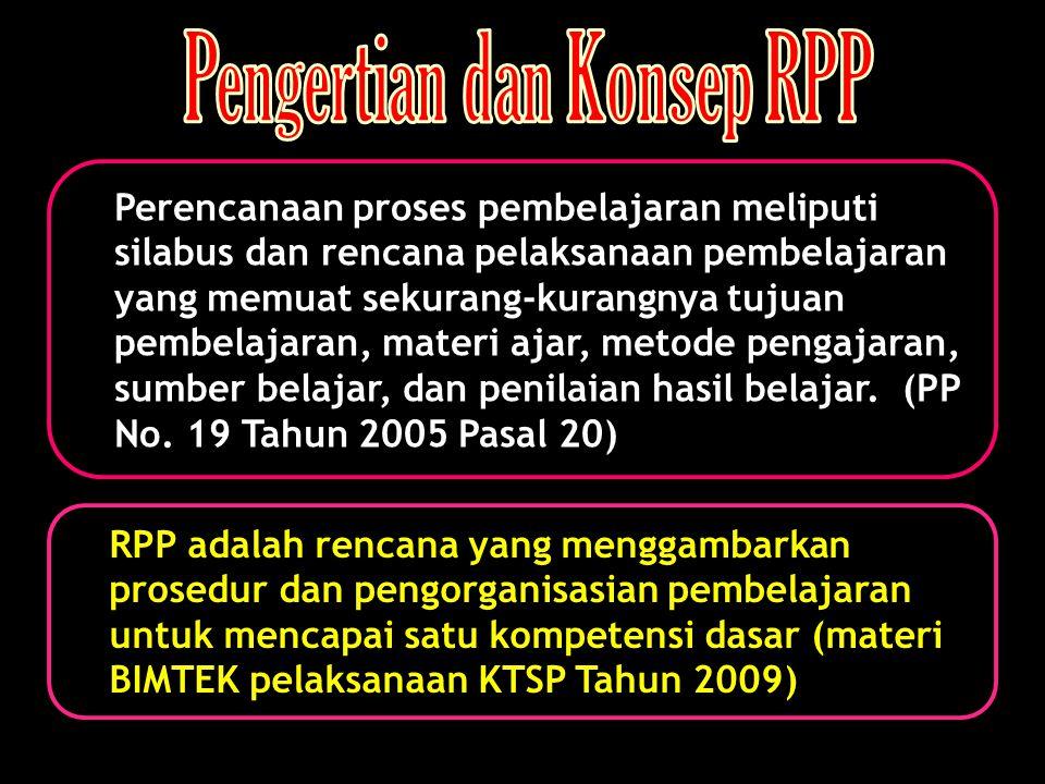 Pengertian dan Konsep RPP