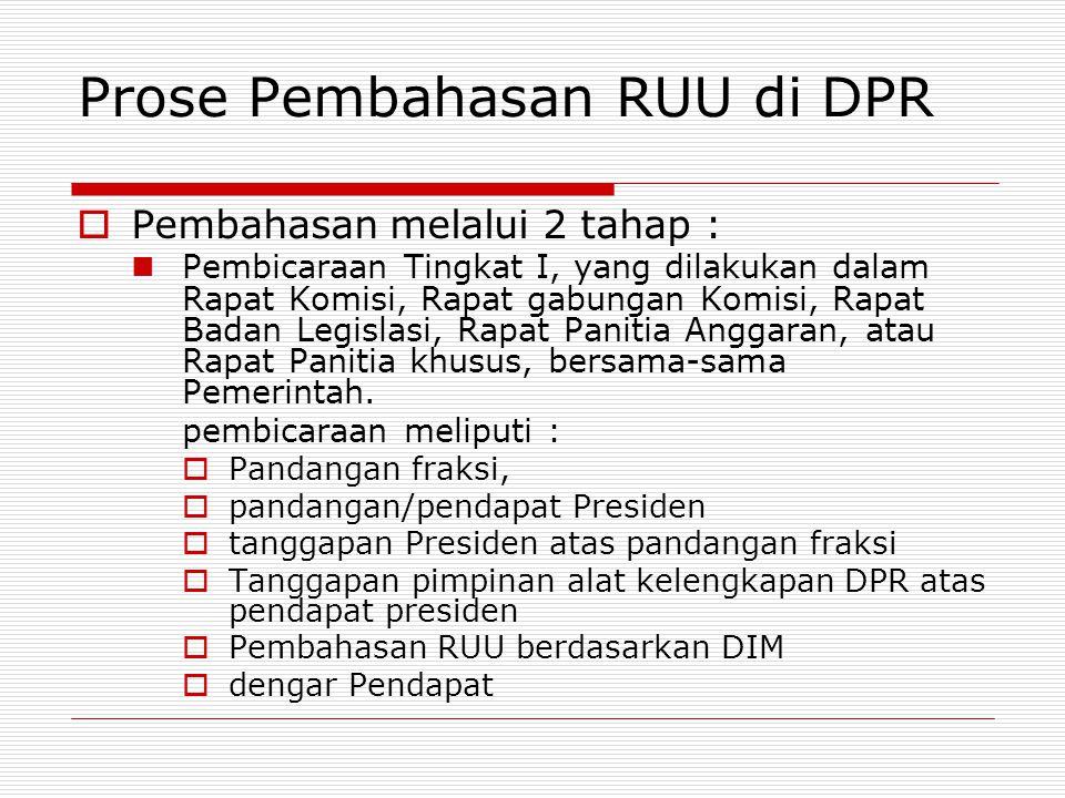 Prose Pembahasan RUU di DPR