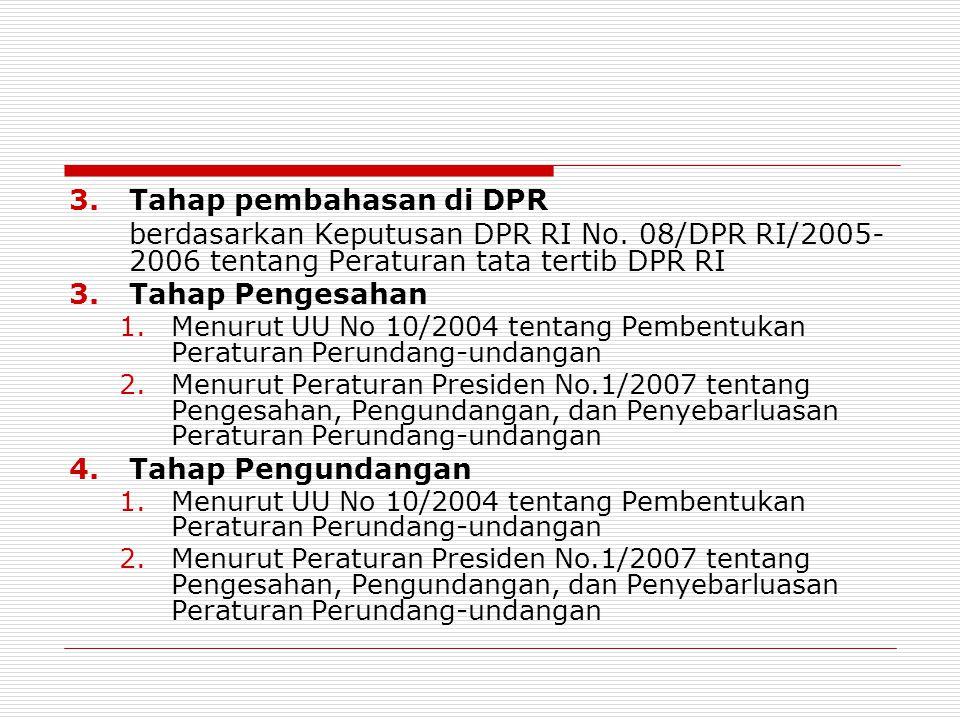 Tahap pembahasan di DPR