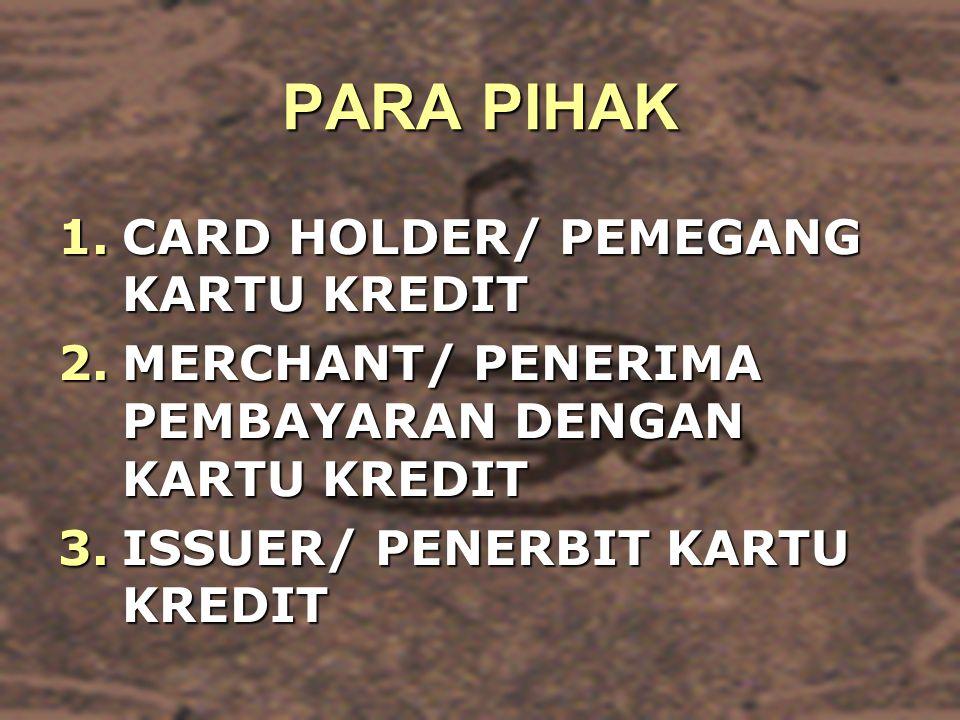 PARA PIHAK CARD HOLDER/ PEMEGANG KARTU KREDIT