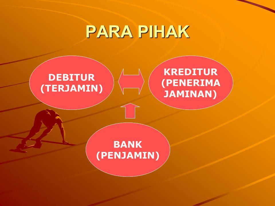 PARA PIHAK KREDITUR DEBITUR (PENERIMA (TERJAMIN) JAMINAN) BANK