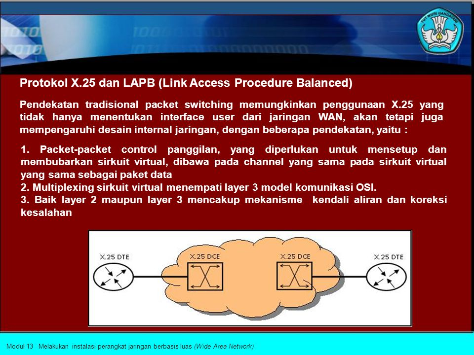 Protokol X.25 dan LAPB (Link Access Procedure Balanced)