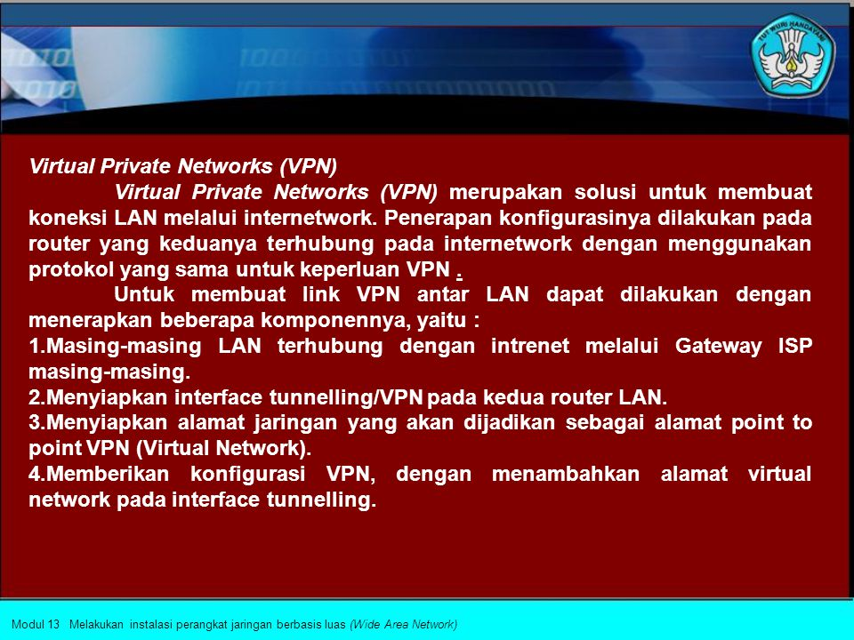 Virtual Private Networks (VPN)