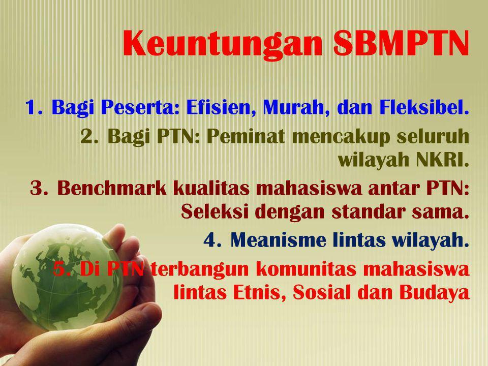 Keuntungan SBMPTN Bagi Peserta: Efisien, Murah, dan Fleksibel.