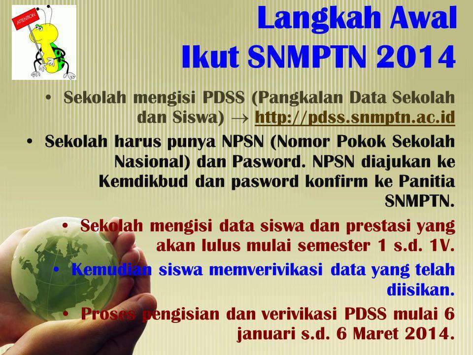 Langkah Awal Ikut SNMPTN 2014