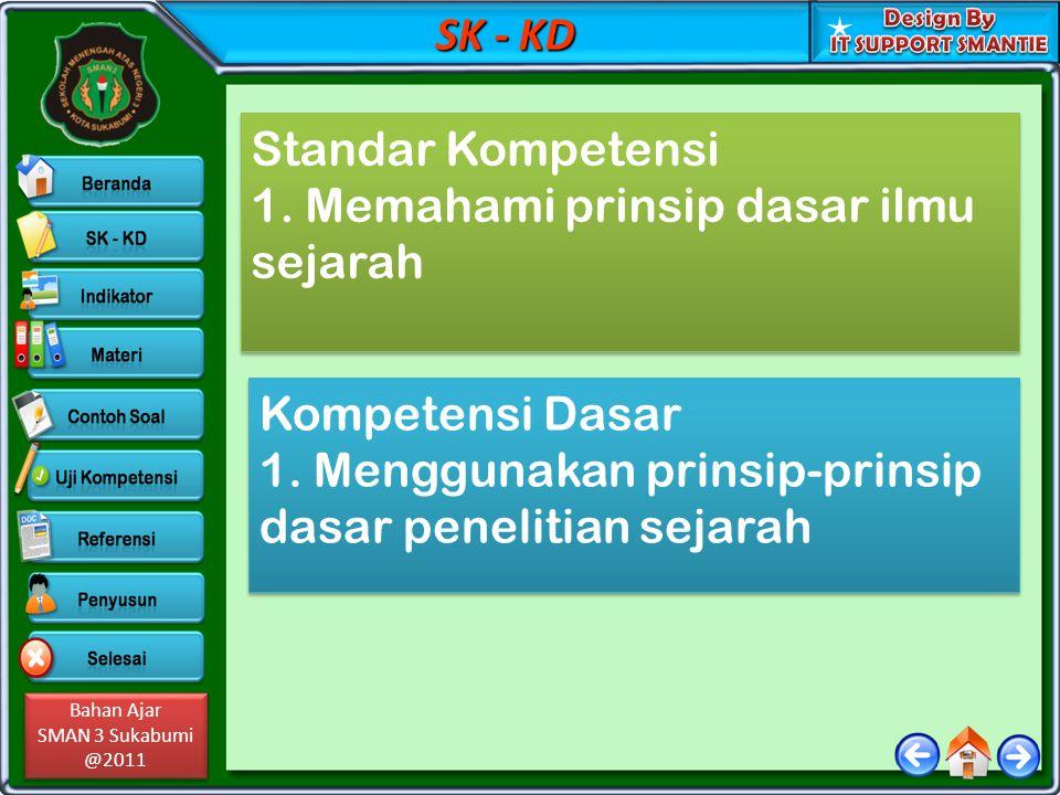 SK - KD Standar Kompetensi. 1. Memahami prinsip dasar ilmu sejarah.