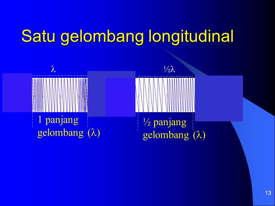 Satu gelombang longitudinal