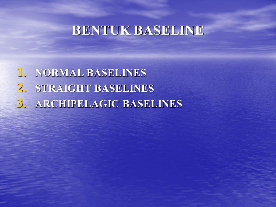 BENTUK BASELINE NORMAL BASELINES STRAIGHT BASELINES