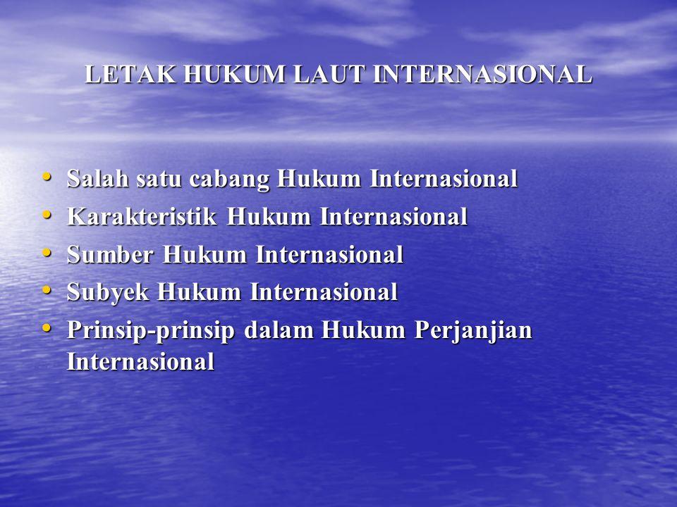 LETAK HUKUM LAUT INTERNASIONAL