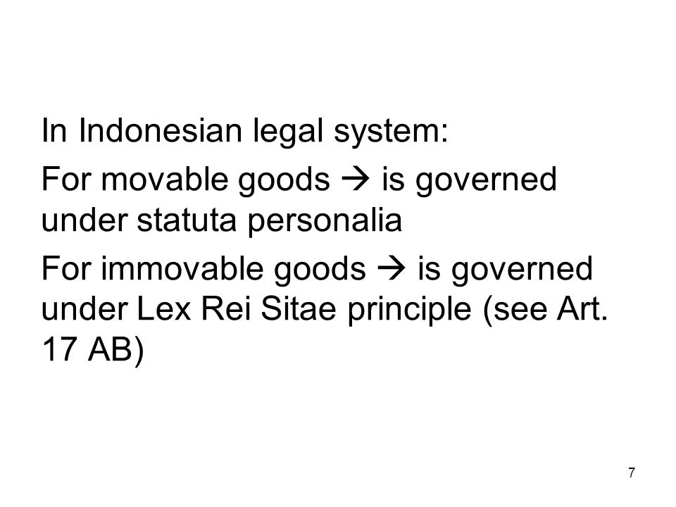 In Indonesian legal system: