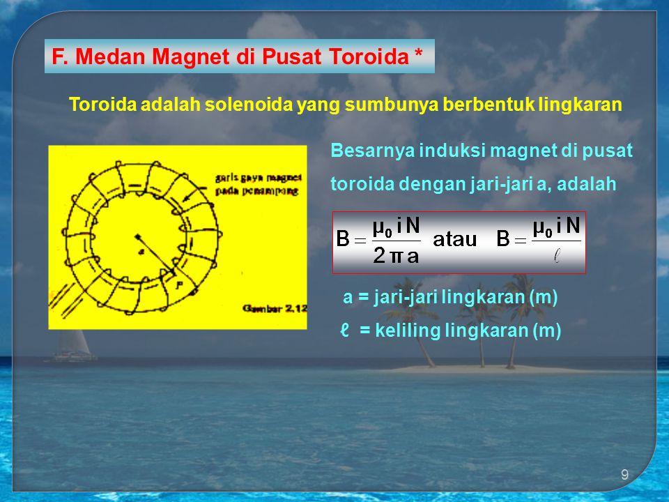 a = jari-jari lingkaran (m) ℓ = keliling lingkaran (m)