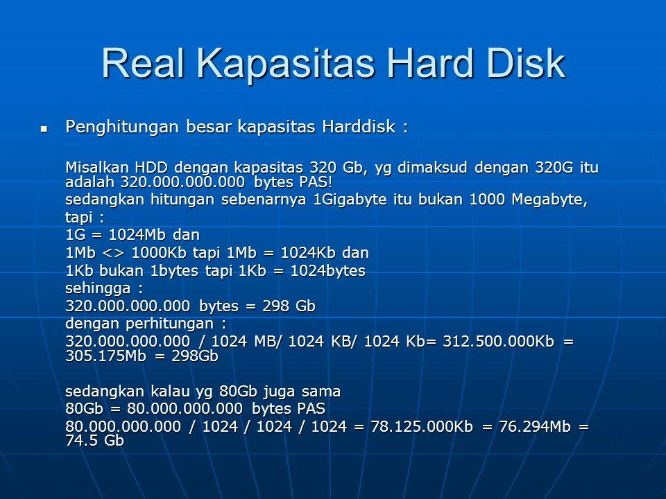 Real Kapasitas Hard Disk