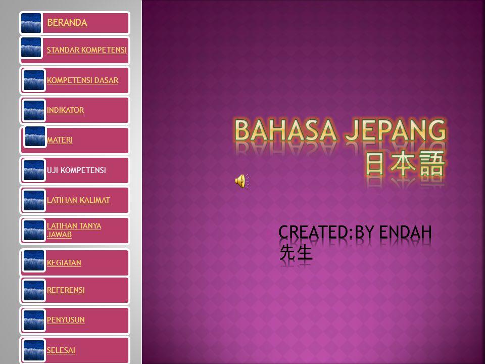 BAHASA JEPANG 日本語 CREATED:BY ENDAH 先生